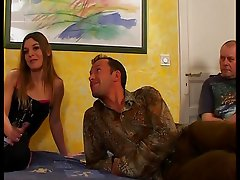 french woman is fucking in front of her husband