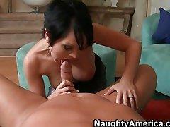 Hot busty MILF slut gets brutally fucked