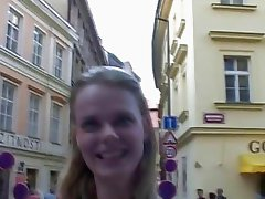 CZECH STREETS  VERONIKA BLOWS DICK FOR CASH