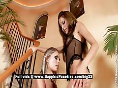 Anitta and Dominika lesbian teen girls kissing