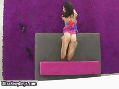 Flexible brunette teen babe showing part5