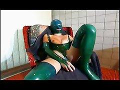 Slave girl enjoys a deep spooning