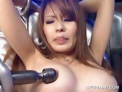 Hot japanese slave gets tits vibed