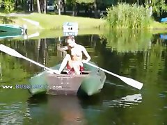 Amateur Irish Natasha in the boat