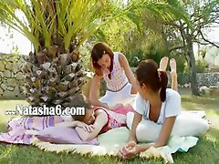 Incredible lesbian threesome from france