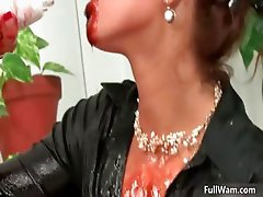 Sexy brunette babes get horny getting part4