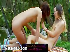 Brutal double dildo and italian lezzies