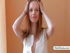 Stripping Gloria shows her incredible tempting body