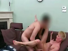 20yo fetching blondie fucking on ottoman