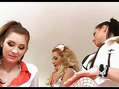 Medical examination with for horny nurses