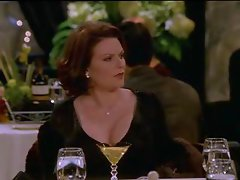 Megan Mullally Showing Off Her Cleavage