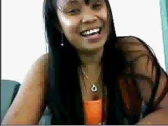 filipina on cam at work