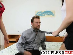 Hot Bitches Gets Pounded by Lucky Dude
