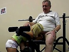 Hot blonde vixen shags with dirty old fart