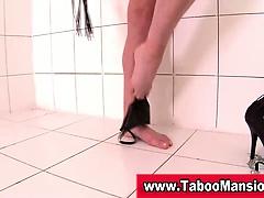 Bdsm fetish babe stripping