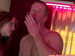 Real dutch hooker makes her client cum