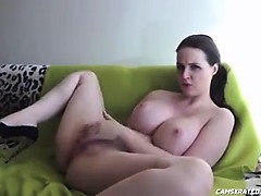 Big Boobs Brunette Masturbating