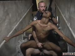 Hot gay sexy naked male cops and handsome wrestling Suspect on the Run Gets Deep Dick