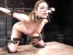 Dahlia suffers on a freaky bondage device BDSM fetish porn