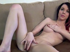 Supermodel as an amateur with purple hair first time porn casting couch first time ever naked on video