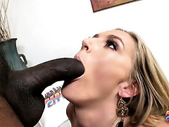 Wonderful ash-blonde cougar in softcore underwear, Mona Wales is providing a deep oral to Sean Michaels