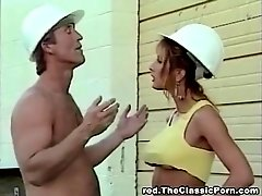 Classic porn movie with a handsome builder