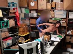 Brunette Teen Thief Shane Blair Takes Big Schlong