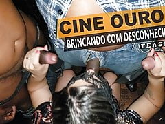 Cristina Almeida with a lot of strangers at the sex theater