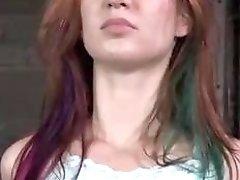Restrained chick Calico Lane craves for rough lovin BDSM porn
