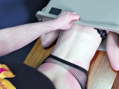 Hot young emotional girl fucked in the trash