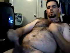 hairy bear with hot time