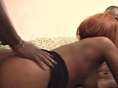kinky ebony babe mapouka gives footjob and gets pussy exploited by big cock