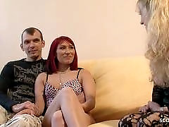 German Mature Teach Young Couple to First Time Porn Fuck