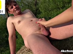 grandpa made me play with his cock