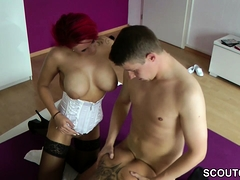 Redhead and Black hair german Teen fuck with Stranger Boy
