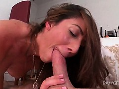 Sexy slut pulled by the hair and deep fucked