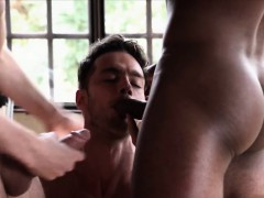 Big dick gays threesome and cumshot