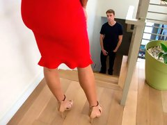 Tanned mademoiselle in stockings Mercedes Carrera screwed in the bedroom