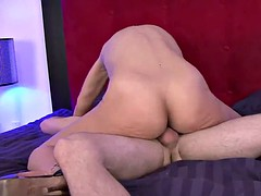 Tricky cougar seduces young technician and fucks him on