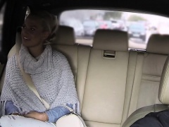 Blonde client bangs big dick in fake taxi
