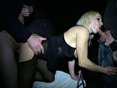 This blonde likes doing naughty stuff in the dark