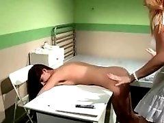 Nurse and hot young patient have lesbian bondage sex BDSM