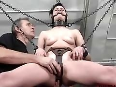 Little bondage bitch Ginger toyed rough by master BDSM porn