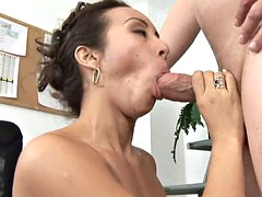 aged babe gives a crazy ride