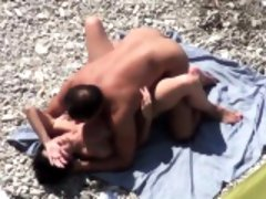 Couple fucked on public beach spar Yanira from dates25com