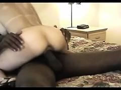 Big black cock guy fucking a big boobs