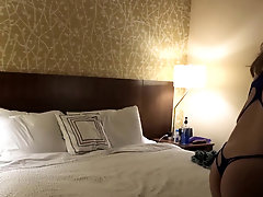 Soccer moms having lesbian sex in a hotel