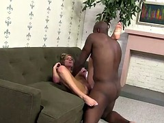 interracial sex leaves busty brianna brooks with a mouthful of cum