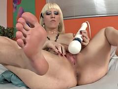 erotic feet - cherry torn masturbation