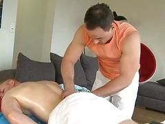 Twink gets a lusty massage from homosexual chap